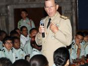 English: CHICAGO (Aug. 25, 2010) Adm. Mike Mullen, chairman of the Joint Chiefs of Staff, addresses questions of leadership style from Junior ROTC students who attend Chicago Public Schools during the Hyman G. Rickover Leadership Series at the Union Leagu