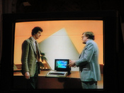 Chris Searle and Ian McNaught-Davis ('Mac') on The Computer Programme.