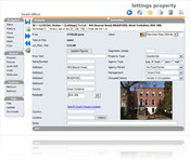 screen shot of estate agency software program