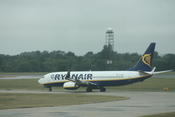 English: Ryanair (EI-DWF) Boeing 737-800 aircraft, London Stansted Airport, Essex, England, July 2010