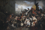 Episode of the September Days 1830 (on the Grand Place of Brussels)