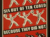 Depression-era poster urging syphilis treatment