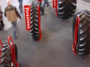 English: Different types of tyres for tractors (or other agricultural machinery) presented by Firestone (Bridgestone NV/SA) on Agriflanders 2007