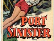 Film poster for Port Sinister - Copyright 1953, RKO Radio Pictures