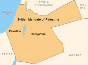 British Mandate of Palestine, 1920s. Created by modification of public domain image Image:BritishMandatePalestine1920.jpg. Modifications consisted of enlarging the font of two words and converting to PNG.