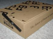 F9 software box with promotional pen