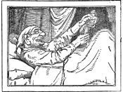 illustration from a book of fairy tales, the tale is
