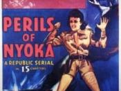Jungle girl Nyoka, played by Kay Aldridge frequently found herself in distress in Perils of Nyoka
