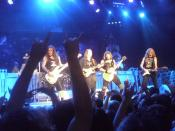 Iron Maiden on stage in Dublin, 2010