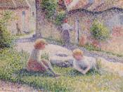 Camille Pissarro, Children on a Farm, 1887