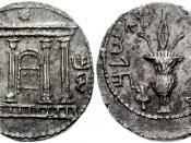 JUDAEA, Bar Kochba Revolt. 132-135 CE. AR Sela – Tetradrachm (28mm, 14.07 g, 11h). Undated issue (year 3 - 134/5 CE). Temple facade, the Ark of the Covenant within; star above / Lulav with etrog. Mildenberg 85.12 (O127/R44´); Meshorer 233; Hendin 711. Nea