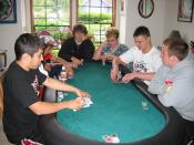 A poker tournament in progress. Taken by me.