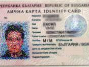 English: Bulgarian ID card