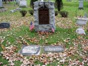 English: Grave of Samuel Wilson and his wife in Oakwood Cemetery in Troy, New York, United States. Sam Wilson is a possible source of the name Uncle Sam.