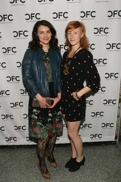 Liane Balaban and friend at a film event in L.A. Original caption: :To learn more about the Telefilm Canada Features Comedy Lab, please visit: cfccreates.com/comedy
