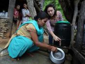 At a NEWAH WASH water project in Puware Shikhar, Udayapur District, Nepal.