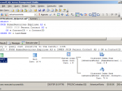 Microsoft SQL Server Management Studio displaying a sample query plan.