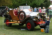 The car from the movie Chitty Chitty Bang Bang at the Cowes Rotary St. George's day event in Northwood Park.