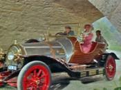 Dick Van Dyke, Sally Ann Howes, Adrian Hall and Heather Ripley who sing the title song in Chitty Chitty Bang Bang.