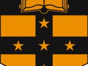 English: Crest of Sydney Grammar School, created Circa 1857. Not trademarked according to start IP Australia