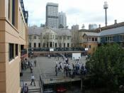 The Middle Playground in 2005. A new assembly hall has been subsequently erected in this space.