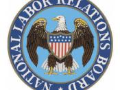 English: Color logo of the National Labor Relations Board, an independent agency of the United States federal government.