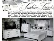 English: Ad for I Love Lucy bedroom set.