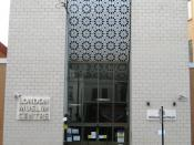 Front view of the London Muslim Centre, London.