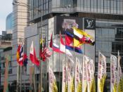 English: The flags of ASEAN nations raised in MH Thamrin Avenue, Jakarta, during 18th ASEAN Summit, Jakarta, 8 May 2011.
