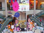 Display in atrium of Mall at Steamtown, Scranton, PA, USA, for first The Office convention