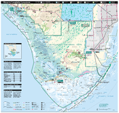 Official National Park Service map of Everglades National Park, Florida. Converted from PDF using Adobe Acrobat 7.0 Professional. Original file name: EVERmap1.pdf
