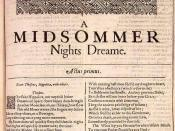 William Shakespeare, A Midsummer Night's Dream (First Folio)