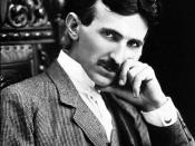 English: The photograph image of Nikola Tesla (1856-1943) at age 40. Polski: Nikola Tesla (1856-1943), serbski inżynier i wynalazca, na zdjęciu w wieku lat 40 Русский: Фотография 40-летнего физика-изобретателя Никола Тесла (1856-1943). Українська: Фотогра
