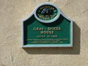Gray - Spicer House - plaque, Farmington Hills, Mi.