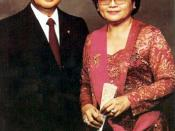 English: President Suharto and Madame Tien Bahasa Indonesia: Presiden Suharto dan Ibu Tien Русский: Президент Сухарто и его жена Сити Хартинах (Мадам Тиен)