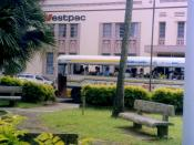 English: Westpac bank in Fijian capital, Suva.