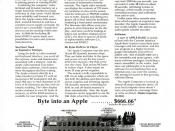 Introductory Apple 1 Computer advertisement published in the October 1976 issue of Interface Age magazine. In this issue also had an article titled