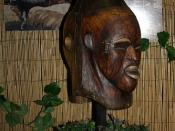 African human skin mask opposite