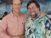 Joey Slotnick poses with Steve Wozniak.