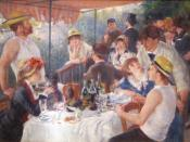 English: Luncheon of the Boating Party (1881) is a painting by French impressionist Pierre-Auguste Renoir. It is currently housed in the Phillips Collection in Washington, D.C. Français : Le déjeuner des canotiers