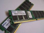 The 536,870,912 byte (512×2 20 ) capacity of these RAM modules is stated as