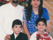 Modern Parsi family in traditional costume.