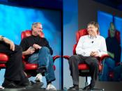 Steve Jobs and Bill Gates at the fifth D: All Things Digital conference (D5) in 2007