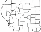 Location of Rock Island, Illinois. Adapted from Wikipedia's IL county maps by User:Seth Ilys.