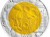 International Year of Astronomy commemorative coin featuring the Isaac Newton Telescope.