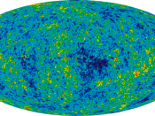 WMAP image of the (extremely tiny) anisotropies in the cosmic background radiation