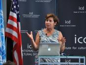English: Cynthia P. Schneider during the ICD International Symposium on Cultural Diplomacy