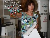 Molecular model being shown during a short presentation on Nuclear Magnetic Resonance (NMR) spectroscopy