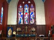 English: The High Altar of St. Mary's Episcopal Church, located at 230 Classon Avenue in Brooklyn, NY.