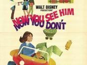 Film poster for Now You See Him, Now You Don't - Copyright 1972, Walt Disney Films.